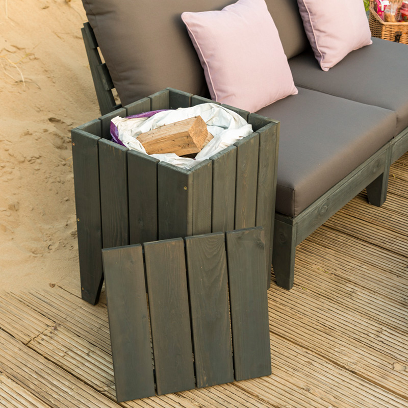 Picture of Alexander Rose 'Bay' Square Planter with Lid