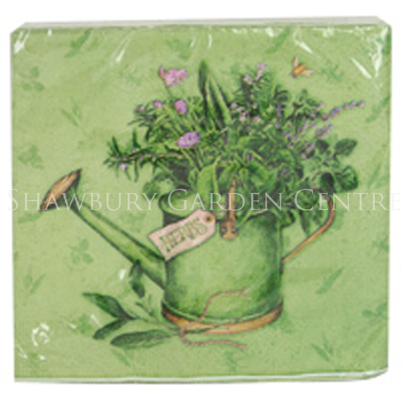 Picture of Watering Can with Herbs Paper Napkins