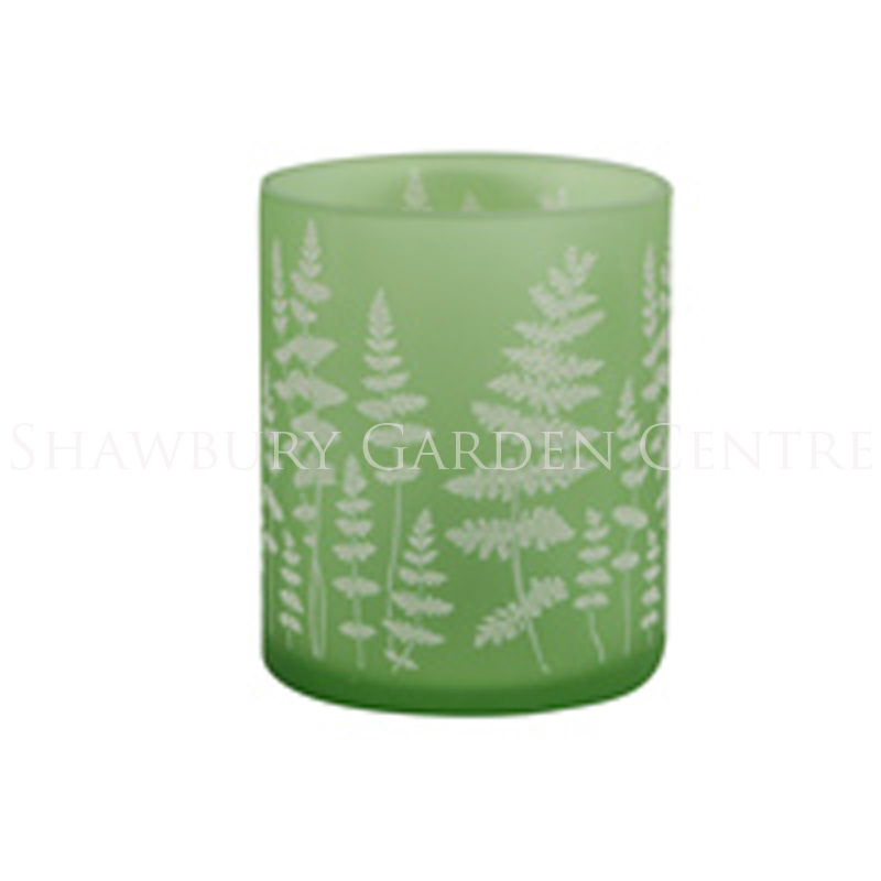 Picture of Gisela Graham Green Etched Glass T Lite Holder