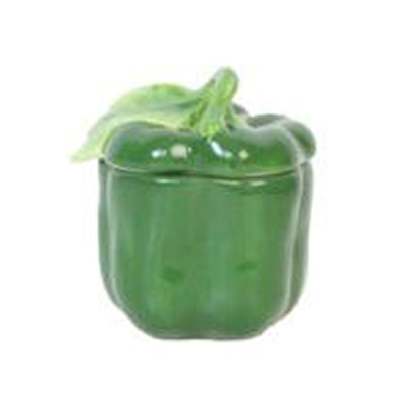 Picture of Gisela Graham Green Ceramic Pepper Pot with Lid