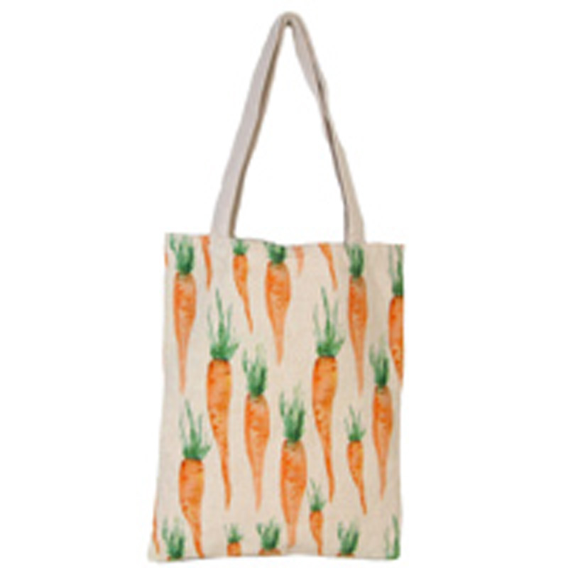 Picture of Gisela Graham Carrot Print Fabric Bag