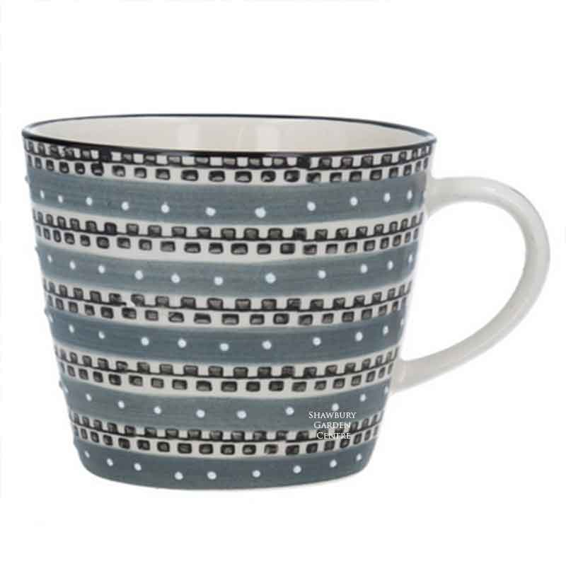 Picture of Gisela Graham Grey Track Ceramic Mug