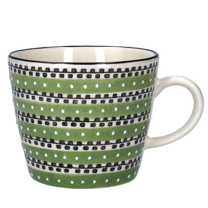 Picture of Gisela Graham Green Track Ceramic Mug