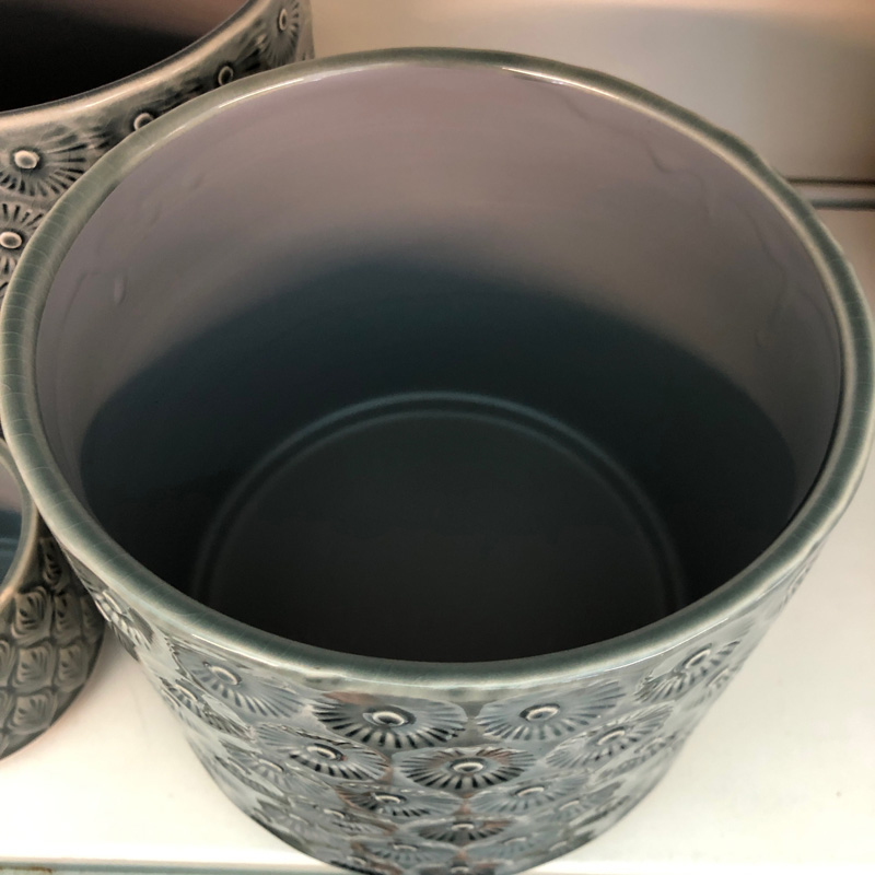 Picture of Gisela Graham Charcoal Daisy Pot Cover
