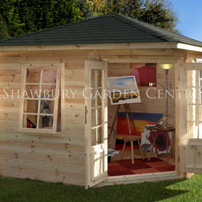 Picture of Forest Garden Wenlock Log Cabin (with Assembly)