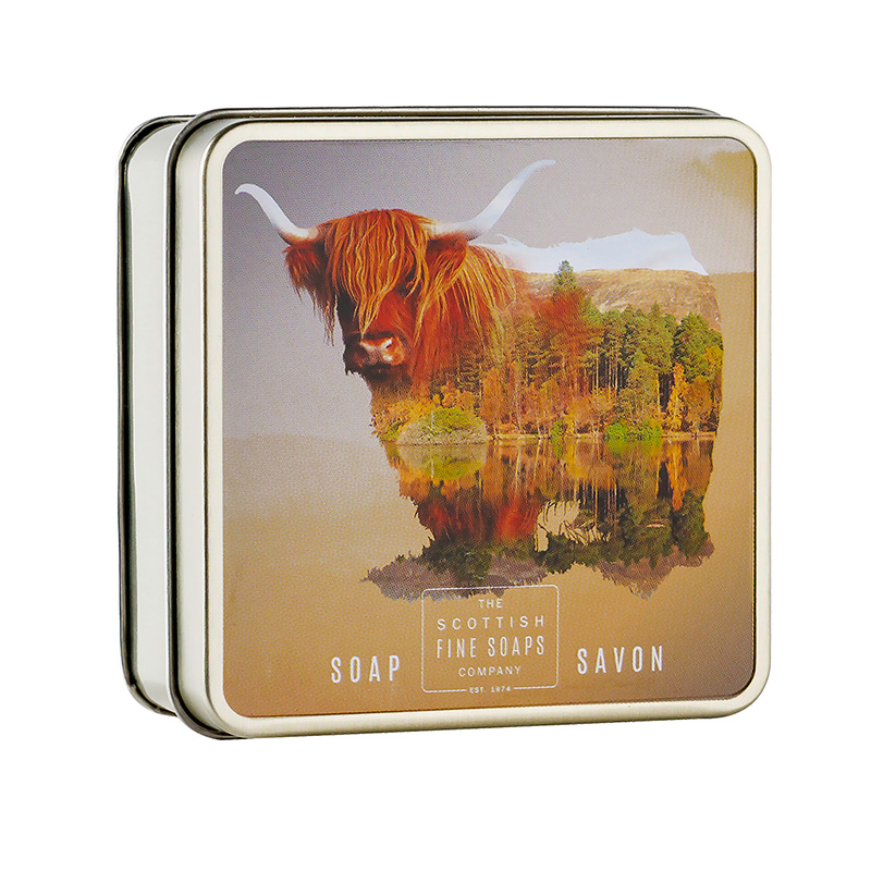 Picture of Scottish Fine Soaps Highland Cow Soap In a Tin