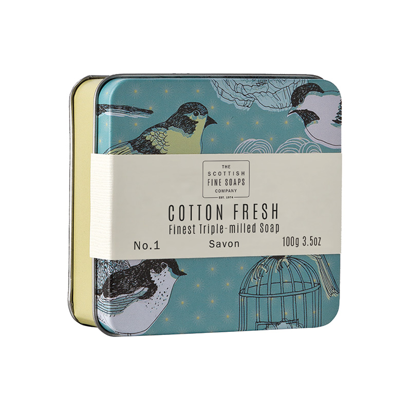 Picture of Scottish Fine Soaps Cotton Fresh Soap in a Tin