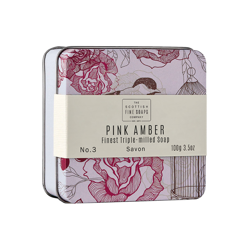 Picture of Scottish Fine Soaps Pink Amber - Soap in a Tin