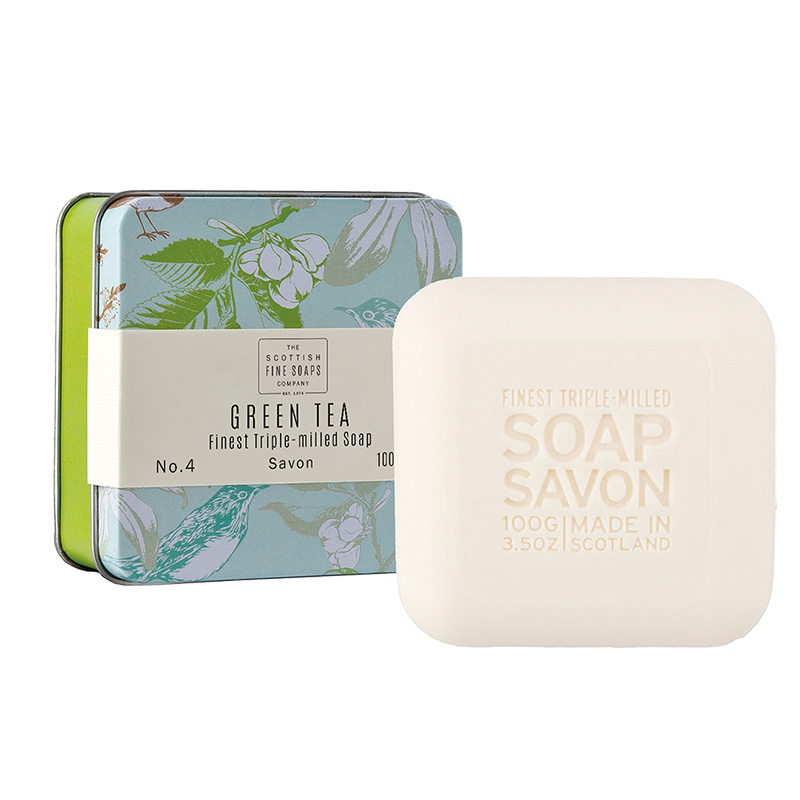 Picture of Scottish Fine Soaps Green Tea - Soap in a Tin