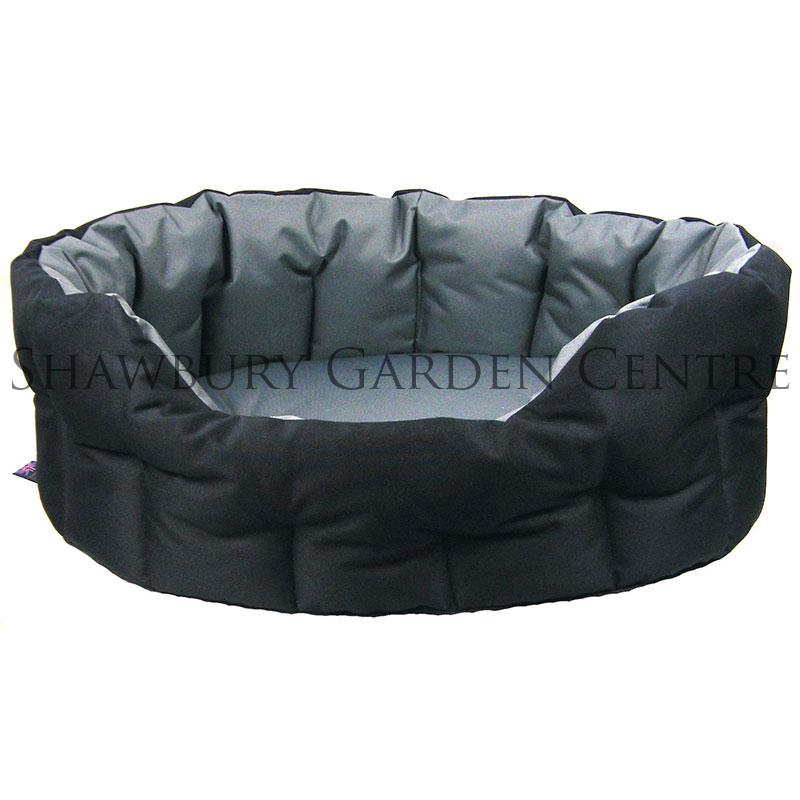 p l heavy duty oval waterproof softee dog bed