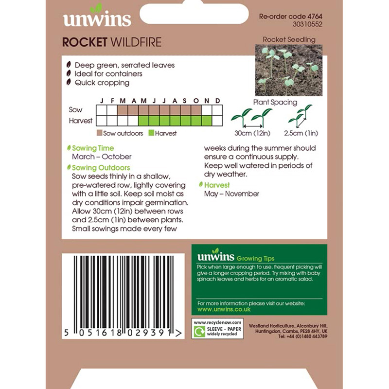 Picture of Unwins ROCKET Wildfire Seeds