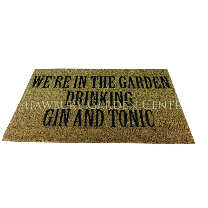 Picture of Gardman Gin And Tonic Coir Door Mat