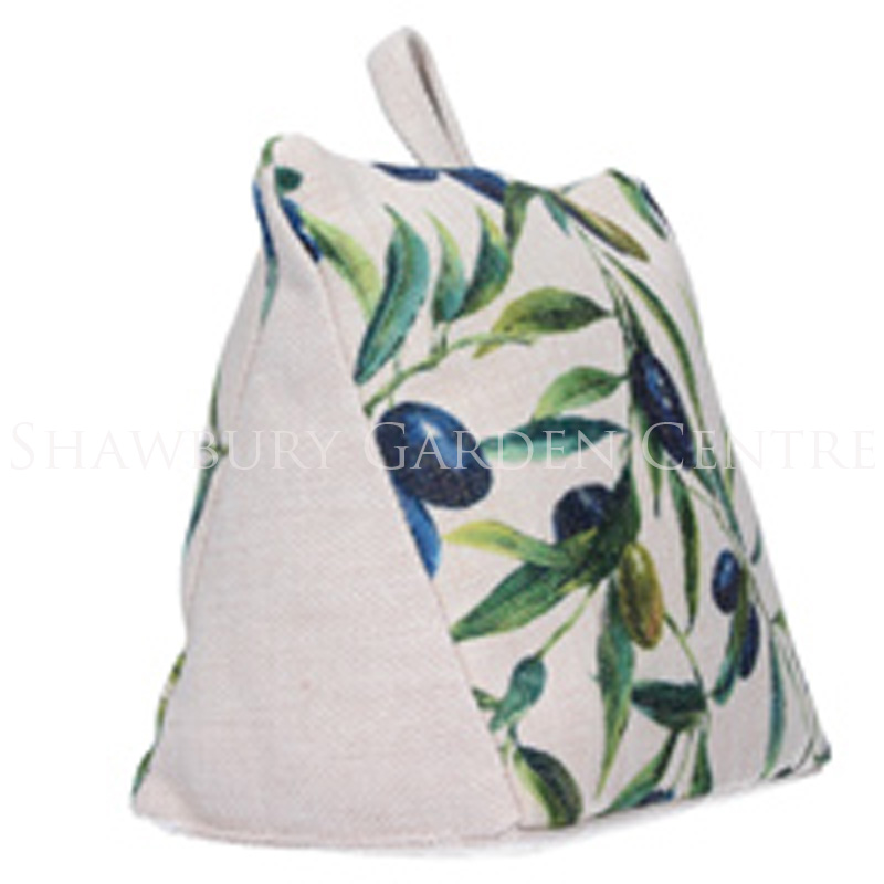 Picture of Gisela Graham Olive Print Fabric Doorstop