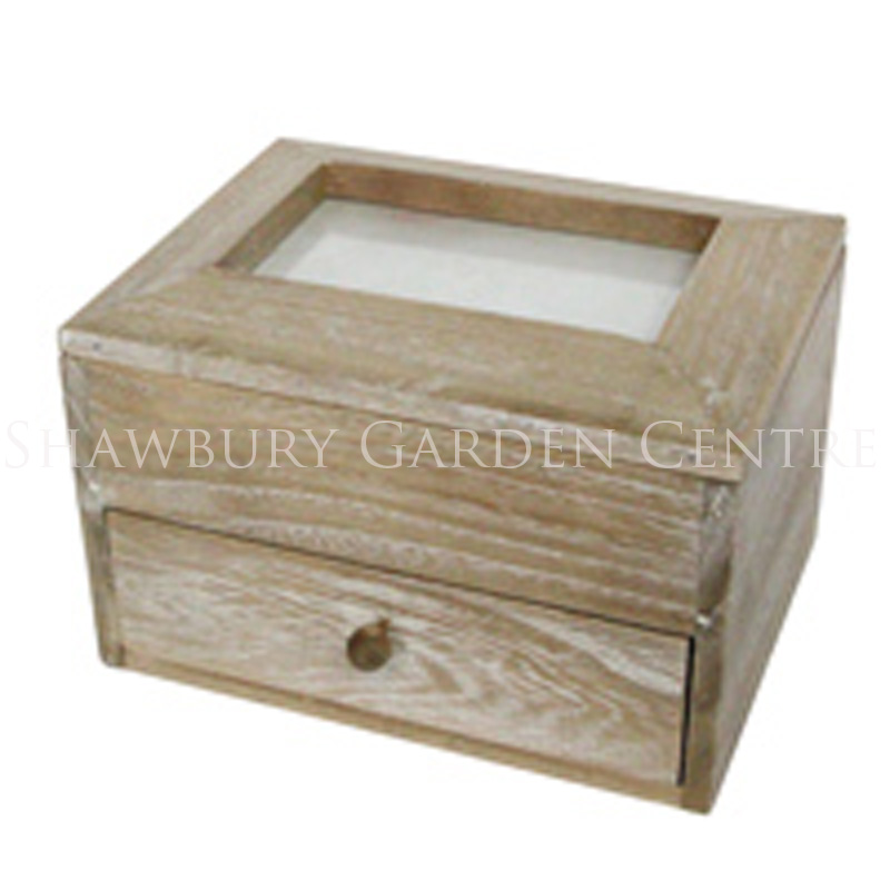 Picture of Gisela Graham Natural Wood Picture Frame Keepsake Box