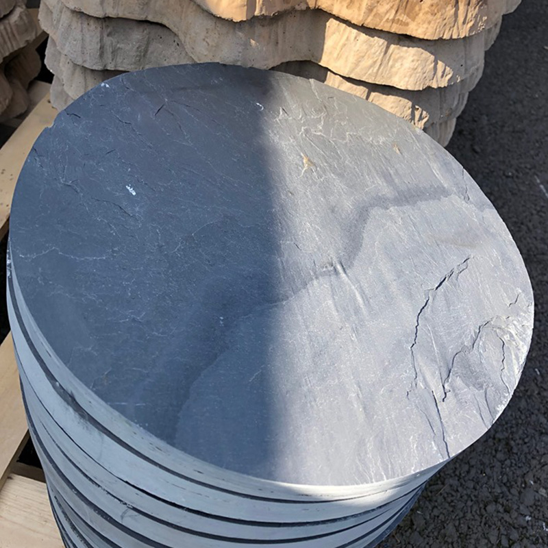 Picture of Natural Slate Circular Stepping Stone
