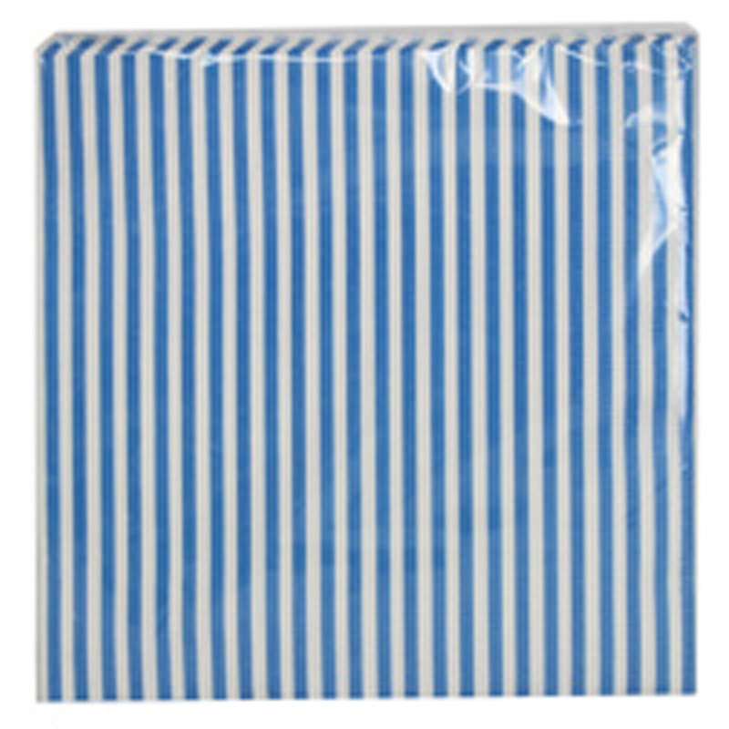 Picture of Gisela Graham Blue & White Striped Paper Napkins