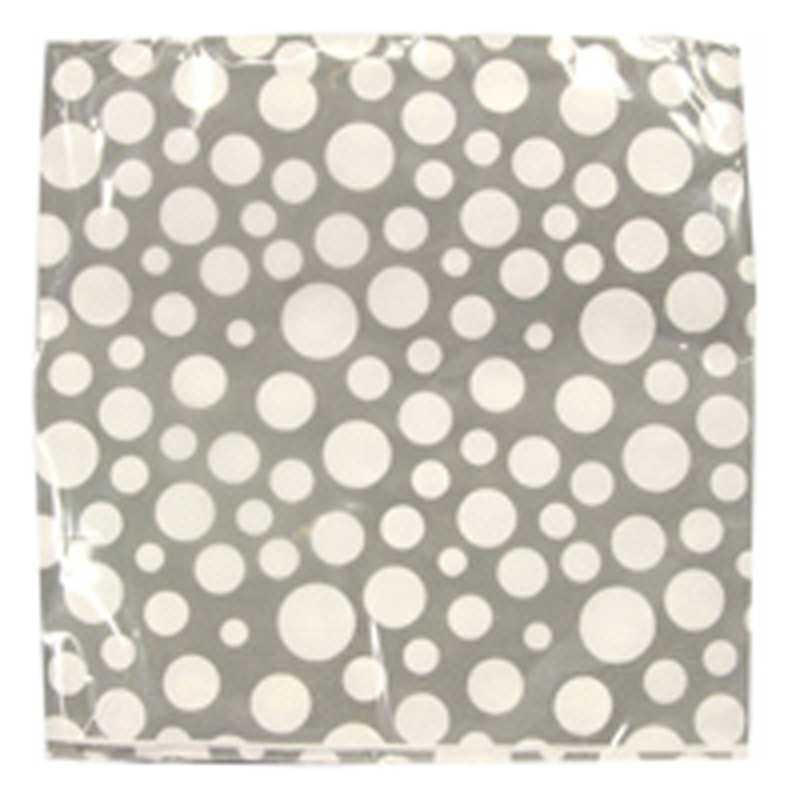 Picture of Gisela Graham Grey/White Bubble Spot Paper Napkins