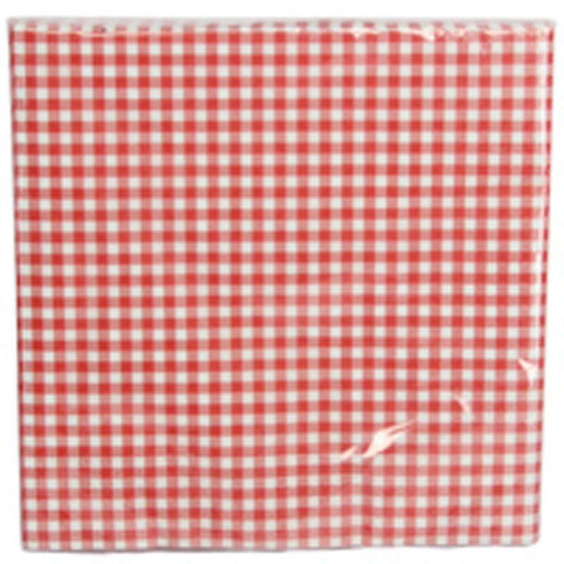 Picture of Gisela Graham Red Gingham Paper Napkins
