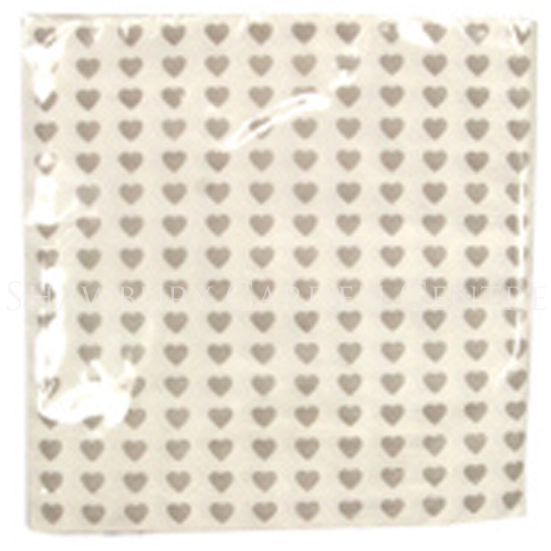 Picture of Gisela Graham Grey Hearts Paper Napkins