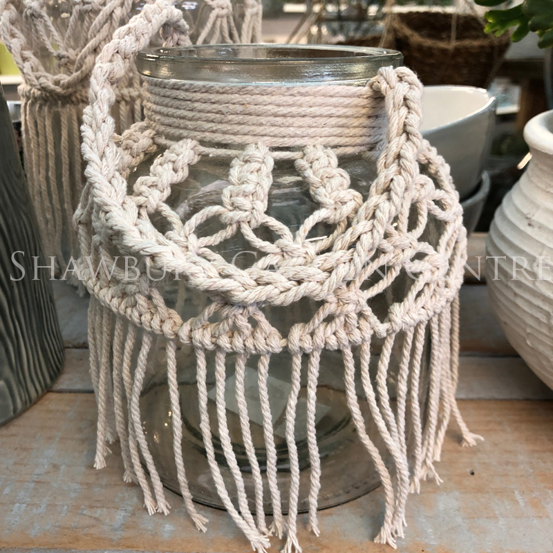 Picture of Gisela Graham Glass Vase with Macrame