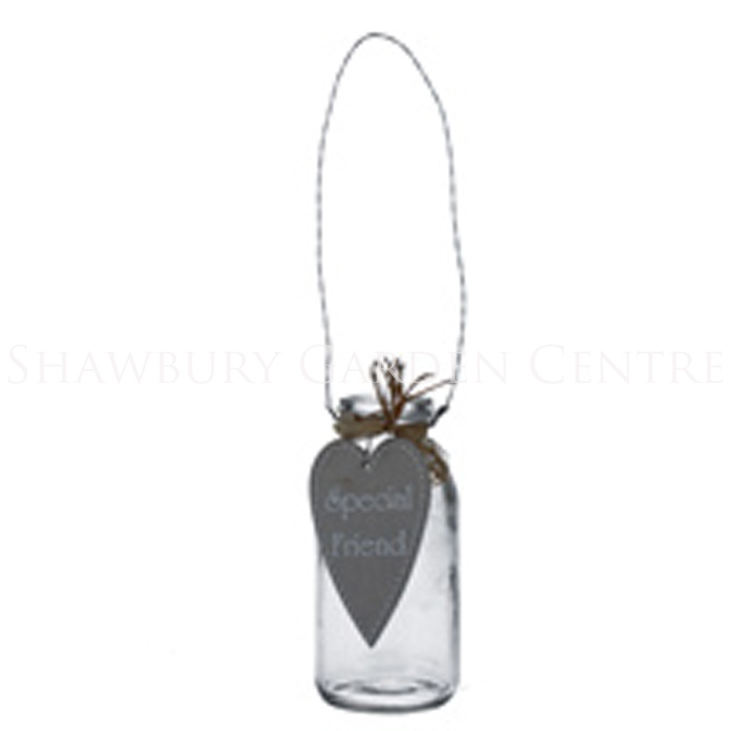 Picture of Gisela Graham Special Friend' Sentiment Glass Bottle