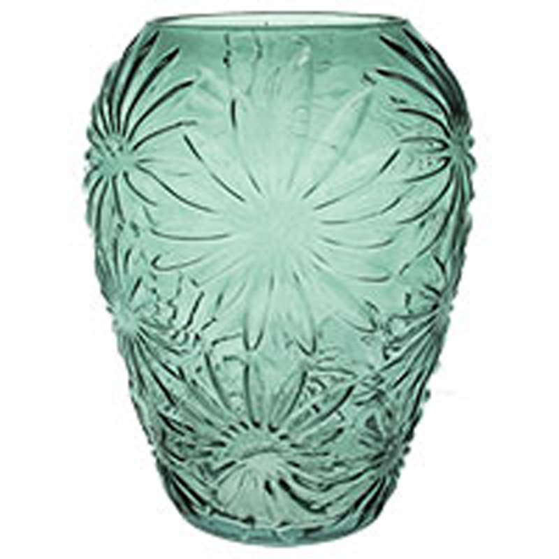 Picture of Gisela Graham Green Daisy Glass Ogee Vase