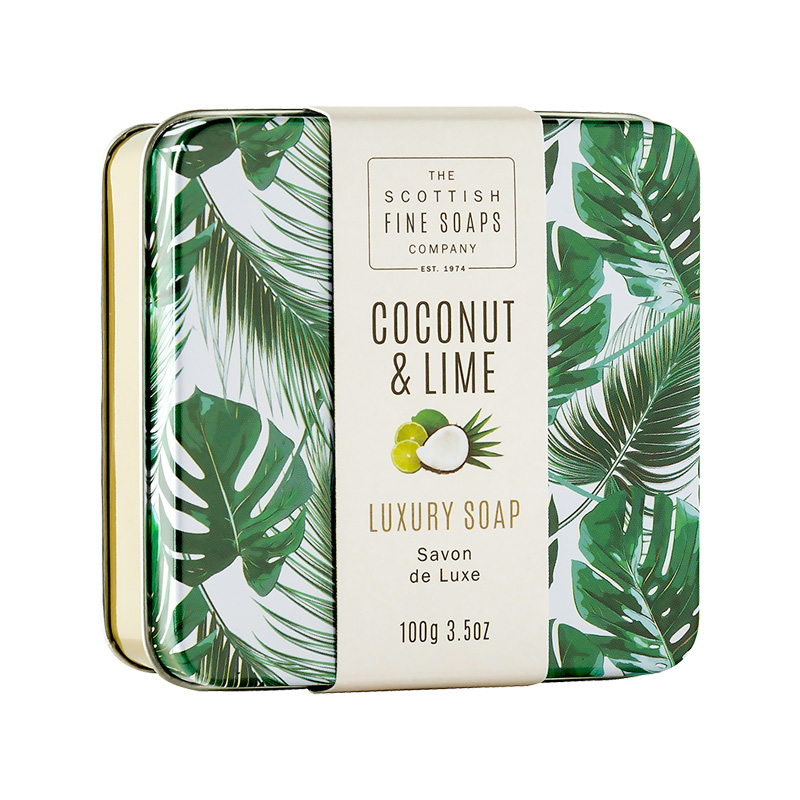 Picture of Scottish Fine Soaps Coconut & Lime Tinned Soap
