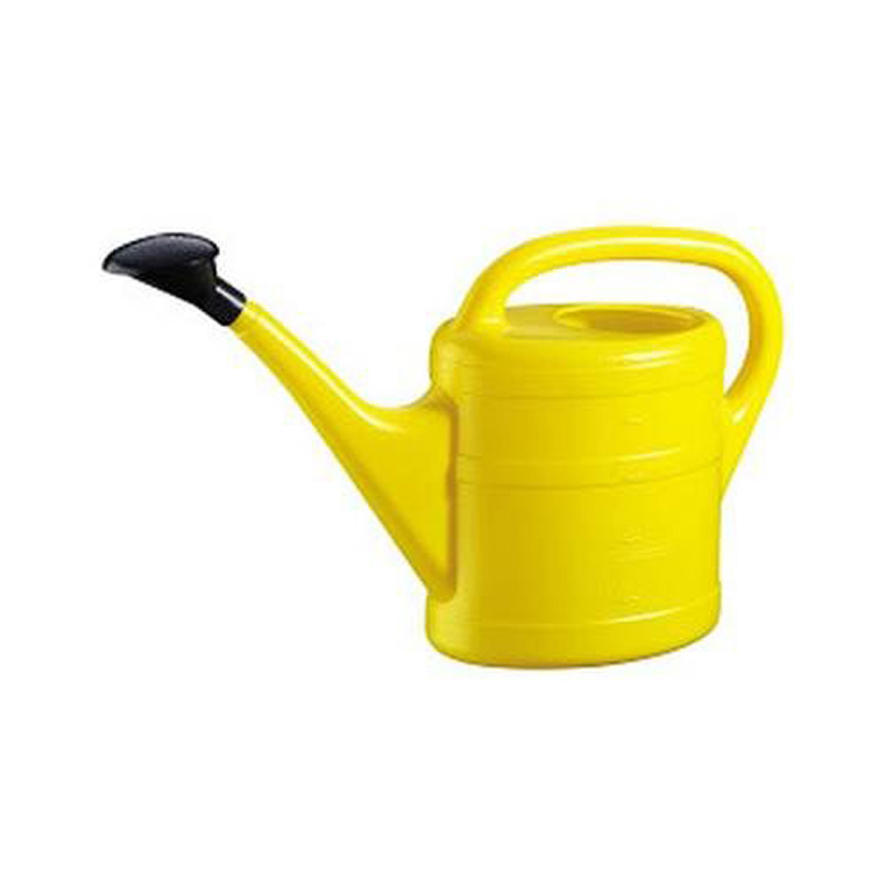 Picture of Yellow Plastic Outdoor Watering Can