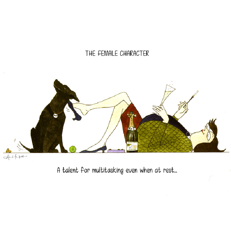Picture of Tottering By Gently A Talent for Multi Tasking Card