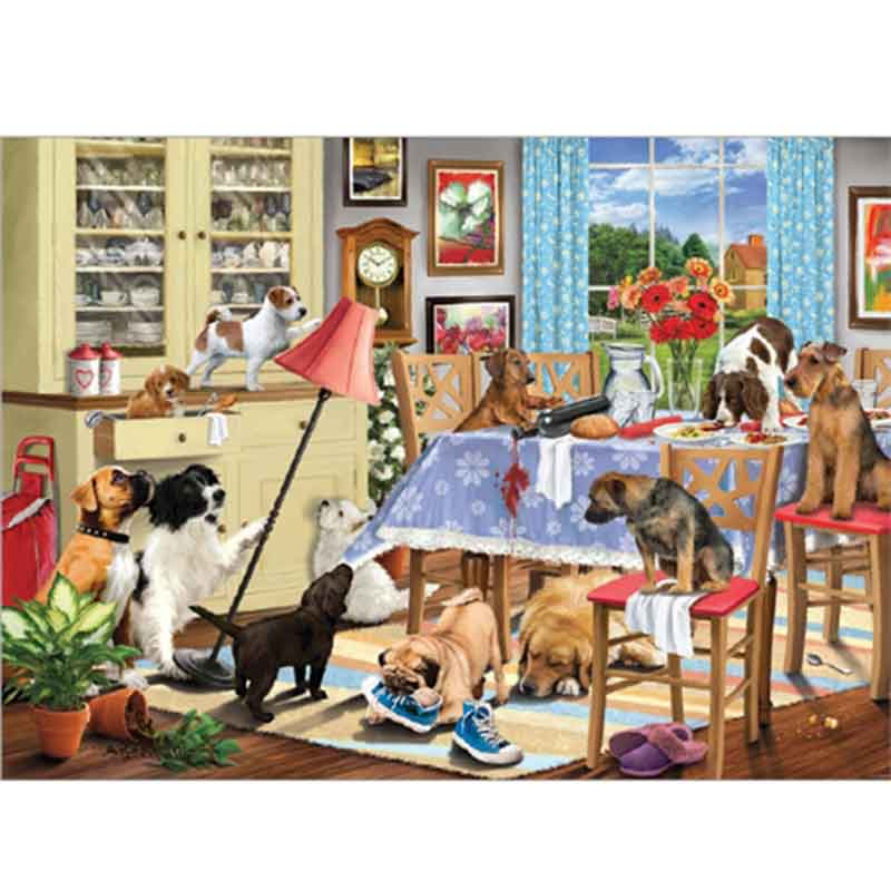 Picture of Otter House Ltd DOGS IN THE DINING ROOM 1000 Piece Jigsaw