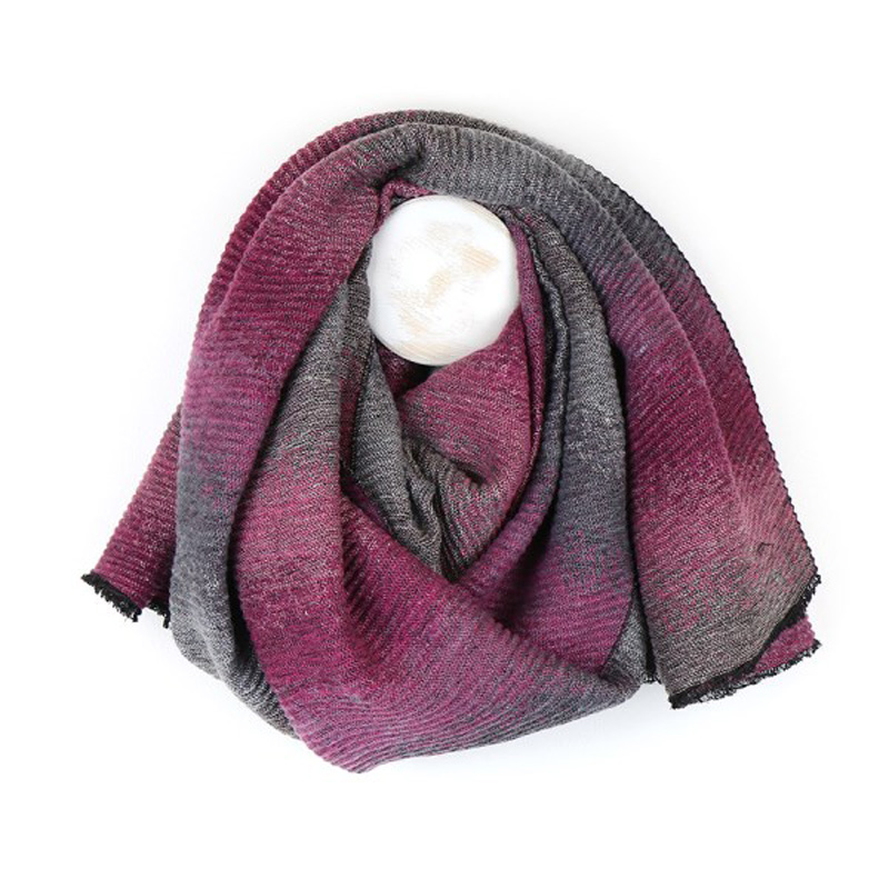 Picture of Reversable Lurex Crinkle Scarf with Ombre Effect
