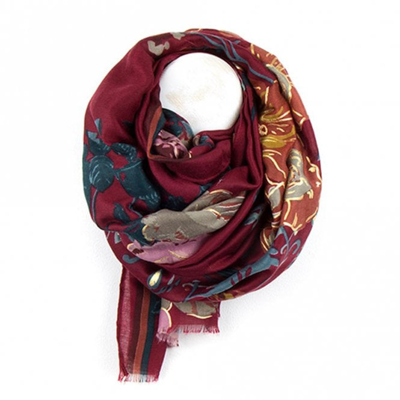 Picture of Floral Folk Print Scarf