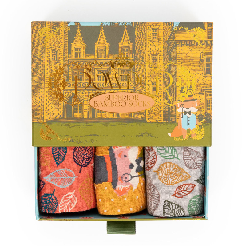 Picture of Powder Ladies 'Gentleman Fox' Sock Gift Box