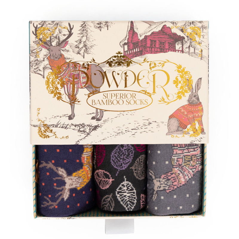 Picture of Powder Ladies 'Cosy Forest Friends' Sock Gift Box
