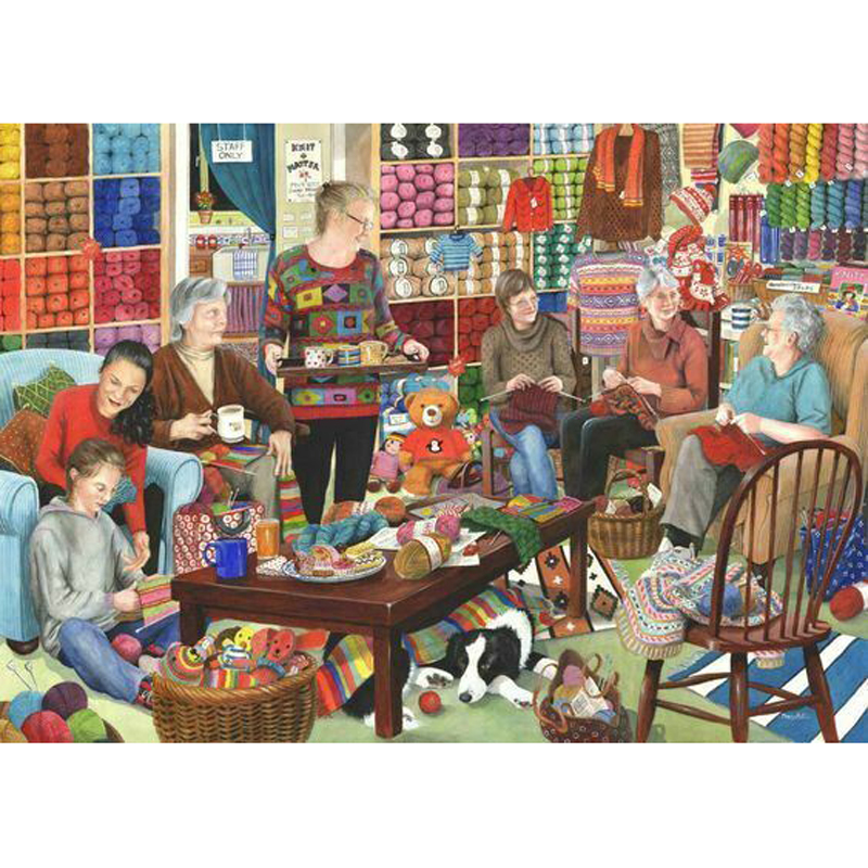 Picture of House of Puzzles 'Knit & Natter' Jigsaw