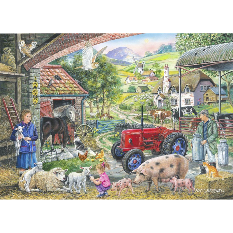 Picture of House of Puzzles 'On the Farm' Jigsaw
