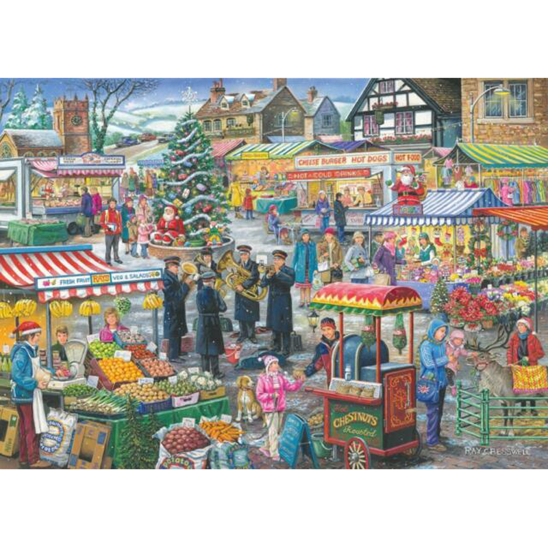 Picture of House of Puzzles 'Festive Market' Jigsaw