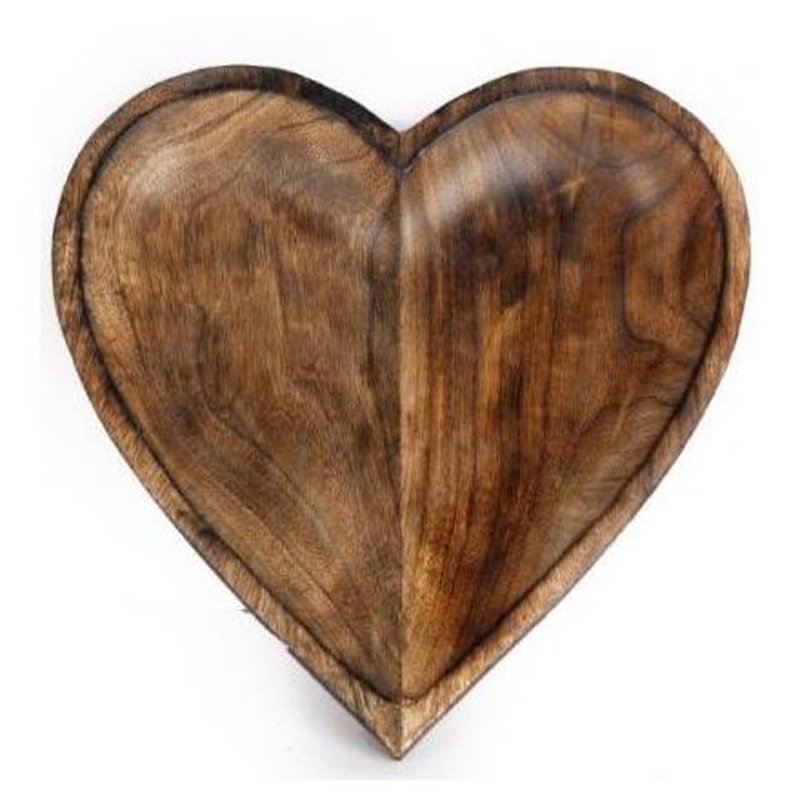 Picture of Wooden Heart Bowl