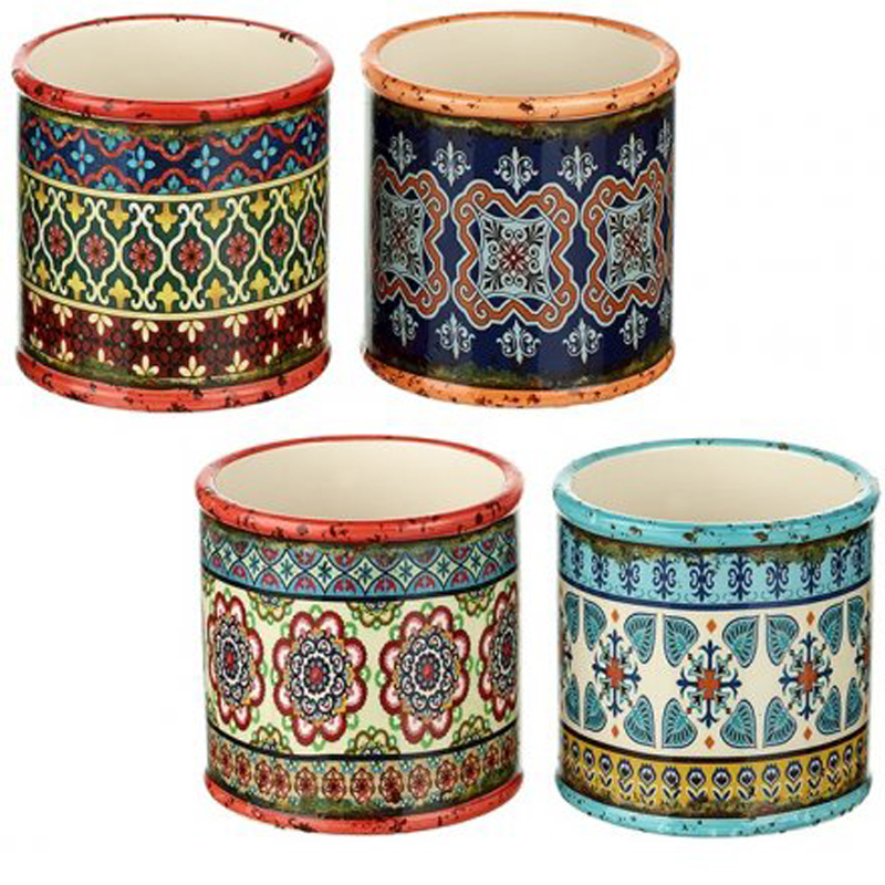 Picture of Colourful Pattern Round Pot