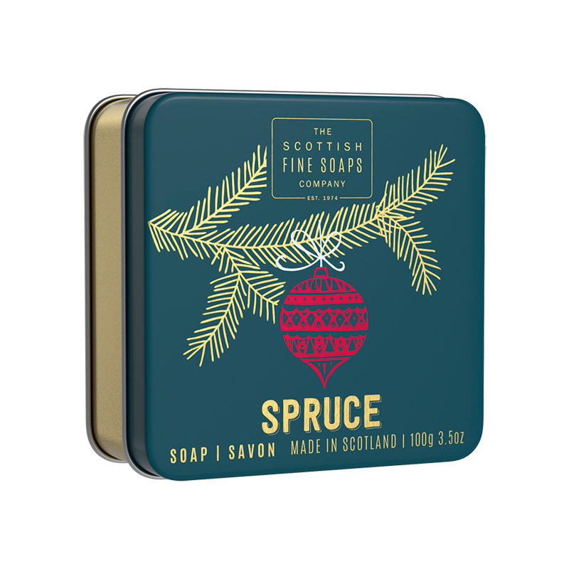 Picture of Scottish Fine Soaps Spruce Soap In a Tin