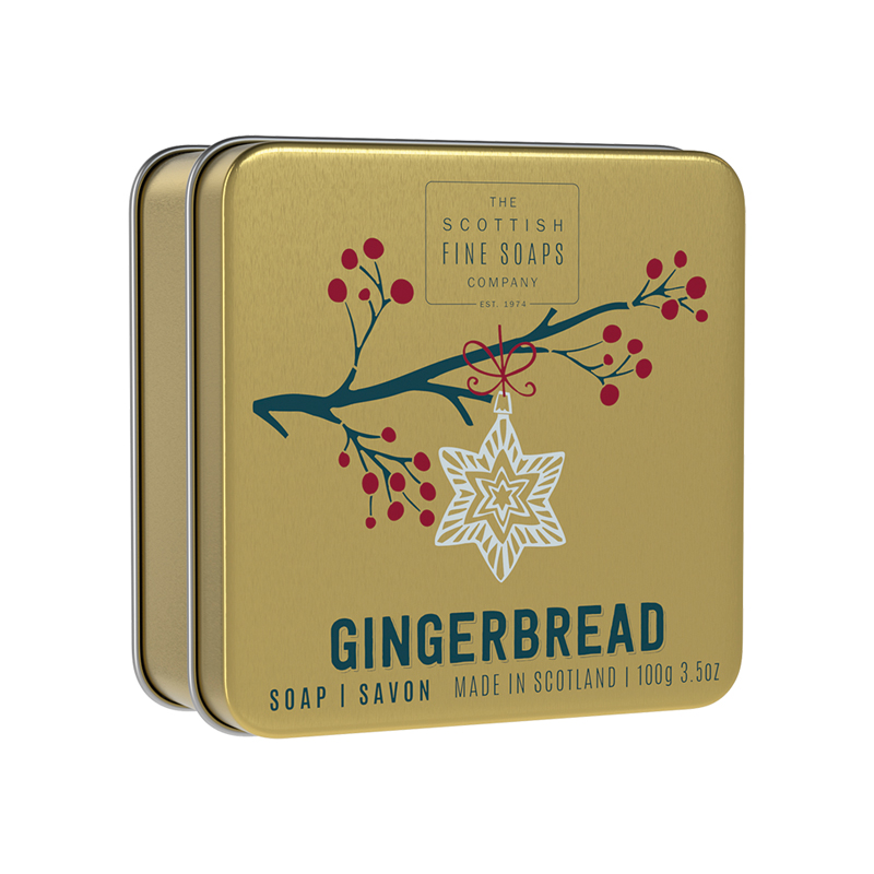 Picture of Scottish Fine Soaps Gingerbread Soap In a Tin