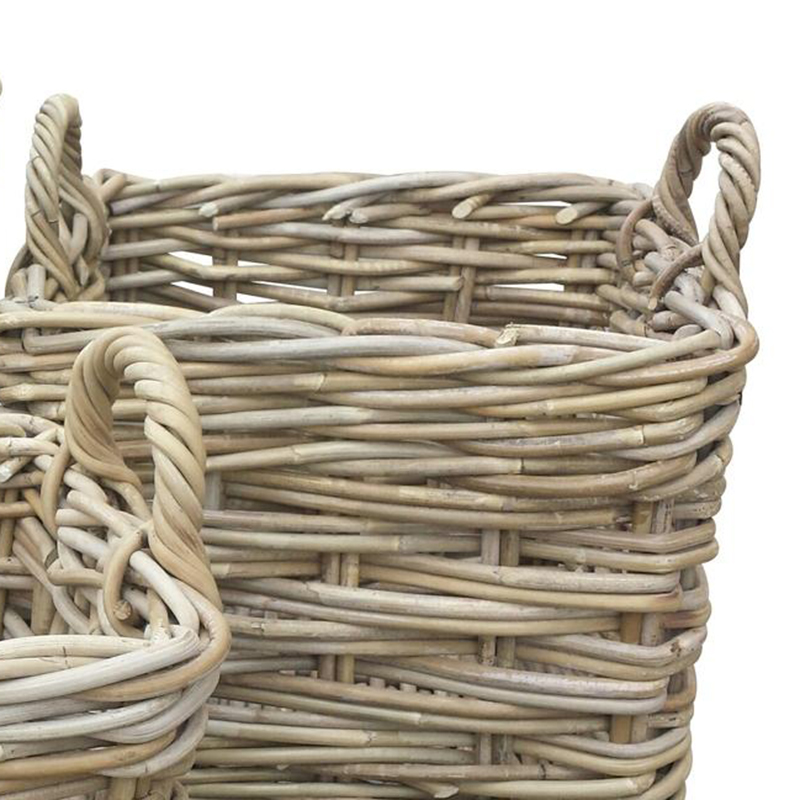 Picture of Hand Woven Square Basket with Ear Handles