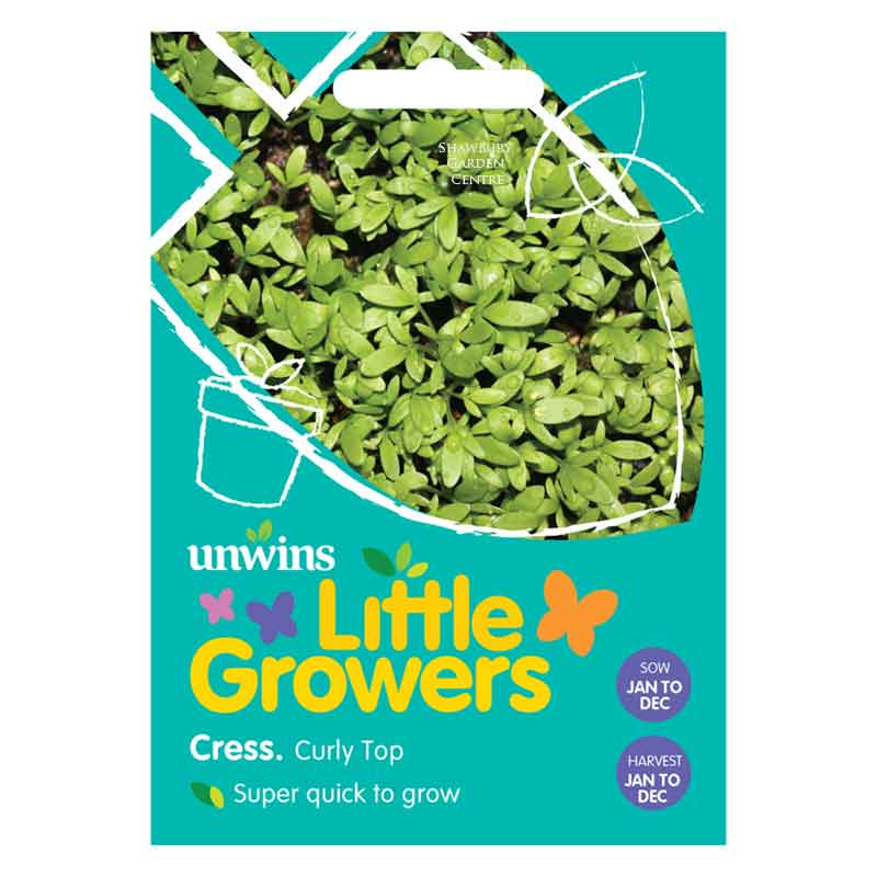 Picture of Unwins Little Growers CRESS Curly Top Seeds