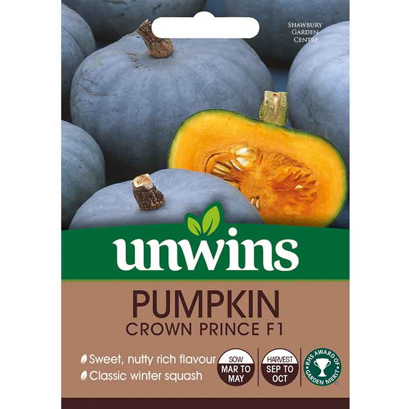Picture of Unwins PUMPKIN Crown Prince F1 Seeds