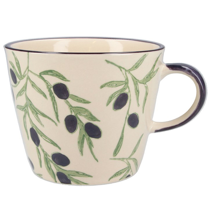 Picture of Gisela Graham Olives Print Ceramic Mug
