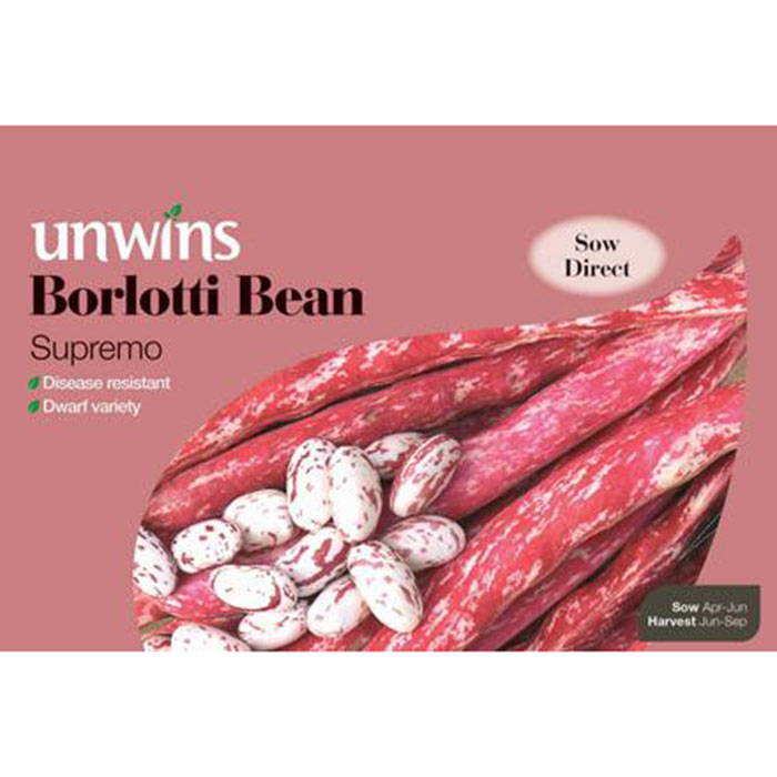 Picture of Unwins 'Supremo' Borlotti Bean Seeds