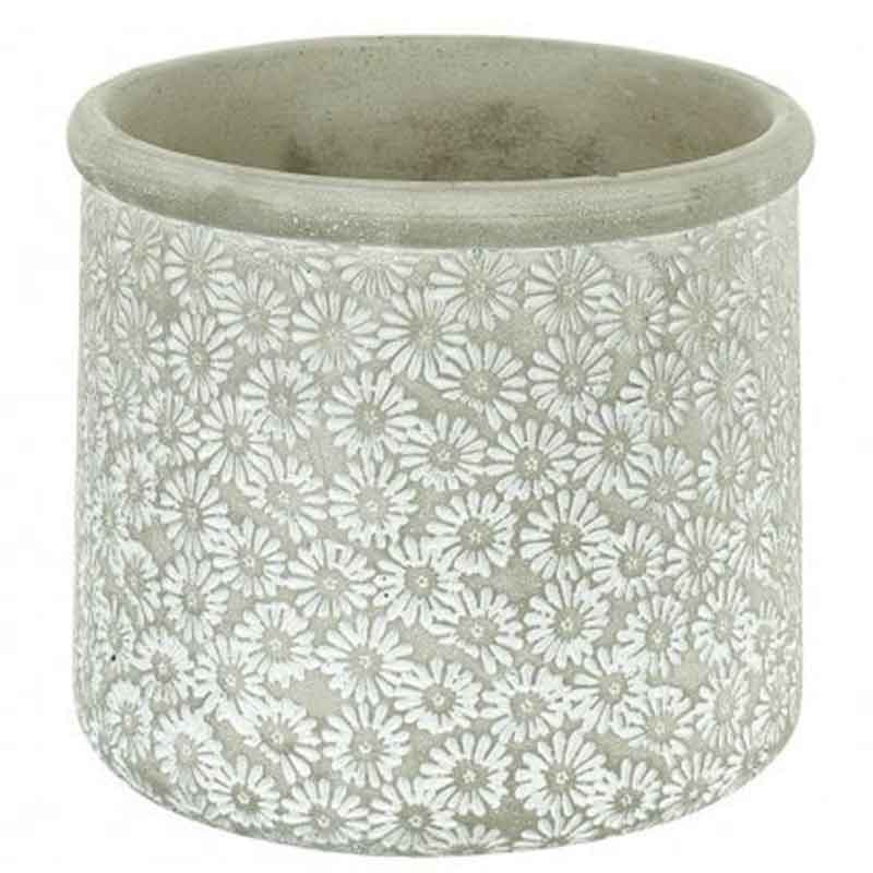 Picture of Parlane Daisy Print Cement Planter