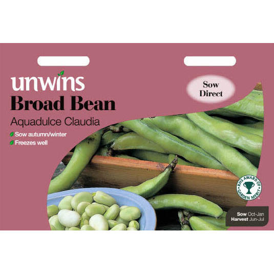 Picture of Unwins 'Aquadulce Claudia' Broad Bean Seeds