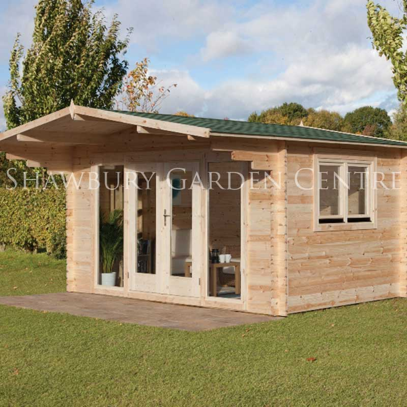 Picture of Forest Garden Abberley Log Cabin Assembled