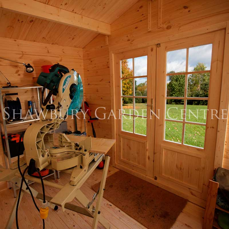 Picture of Forest Garden Bradnor Log Cabin